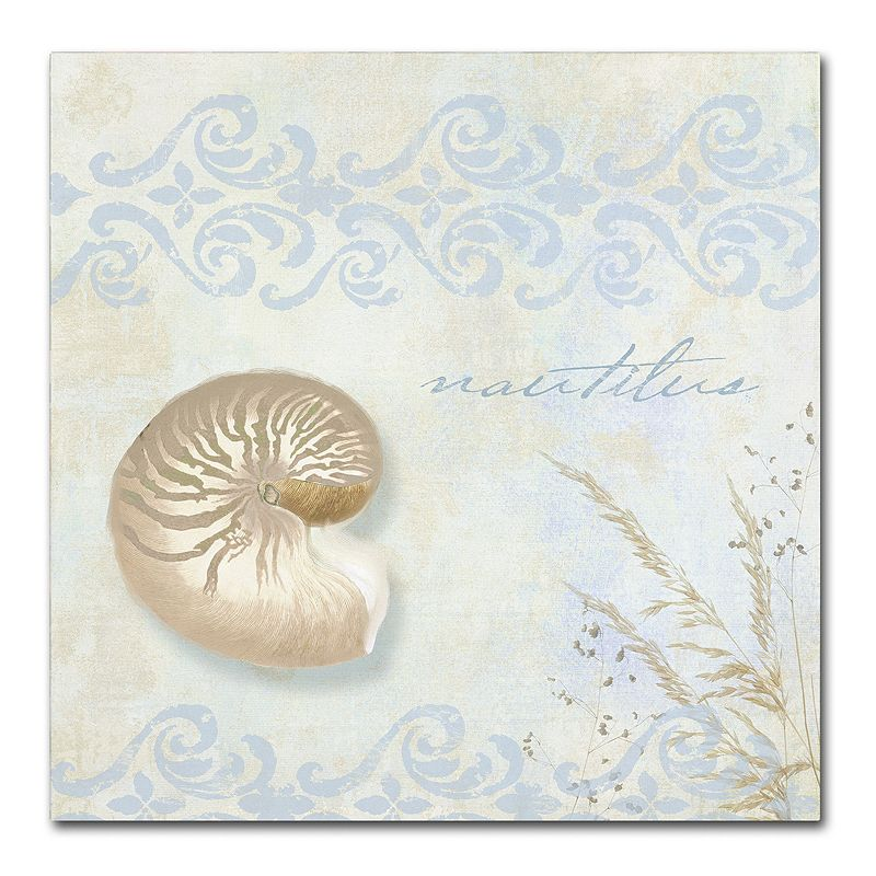 Trademark Fine Art She Sells Seashells I Canvas Wall Art. Yellow. 35X35