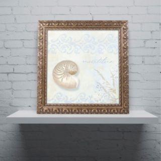 Trademark Fine Art She Sells Seashells I Ornate Framed Wall Art