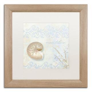 Trademark Fine Art She Sells Seashells I Washed Matted Framed Wall Art