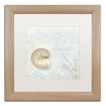 Trademark Fine Art She Sells Seashells I Washed Matted Framed Wall Art