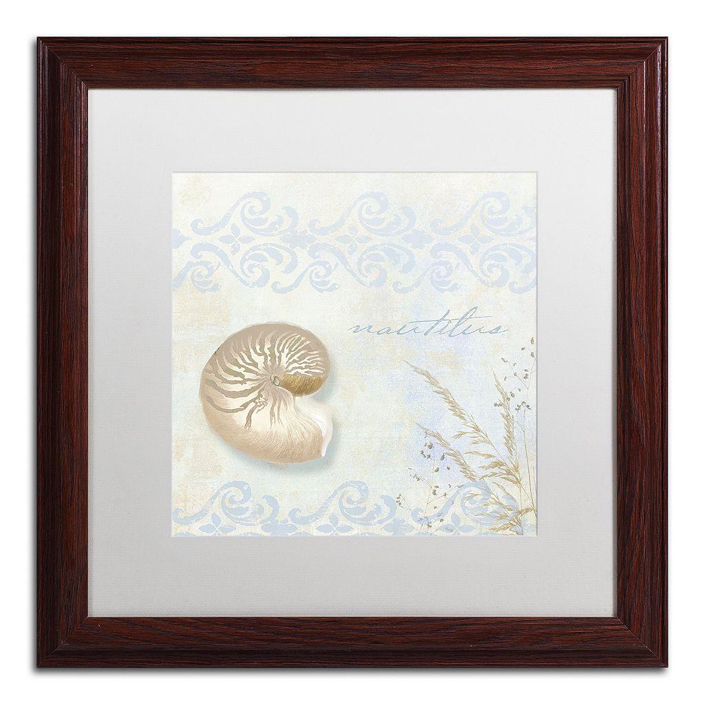 Trademark Fine Art She Sells Seashells I Matted Framed Wall Art
