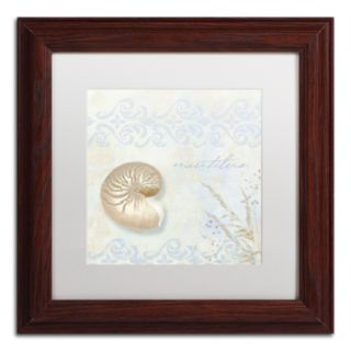 Trademark Fine Art She Sells Seashells I Matted Framed Wall Art