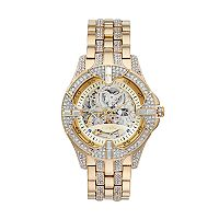 Elgin Men's Crystal Automatic Skeleton Watch