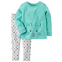 Toddler Girl Carter's Bunny Sweatshirt & Leggings Set