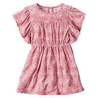 Toddler Girl Carter's Dusty Pink Floral Dress