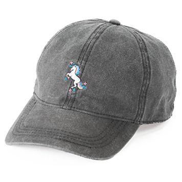 Women's SO® Embroidered Unicorn Baseball Cap