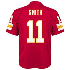 Boys 8-20 Kansas City Chiefs Alex Smith Replica NFL Jersey