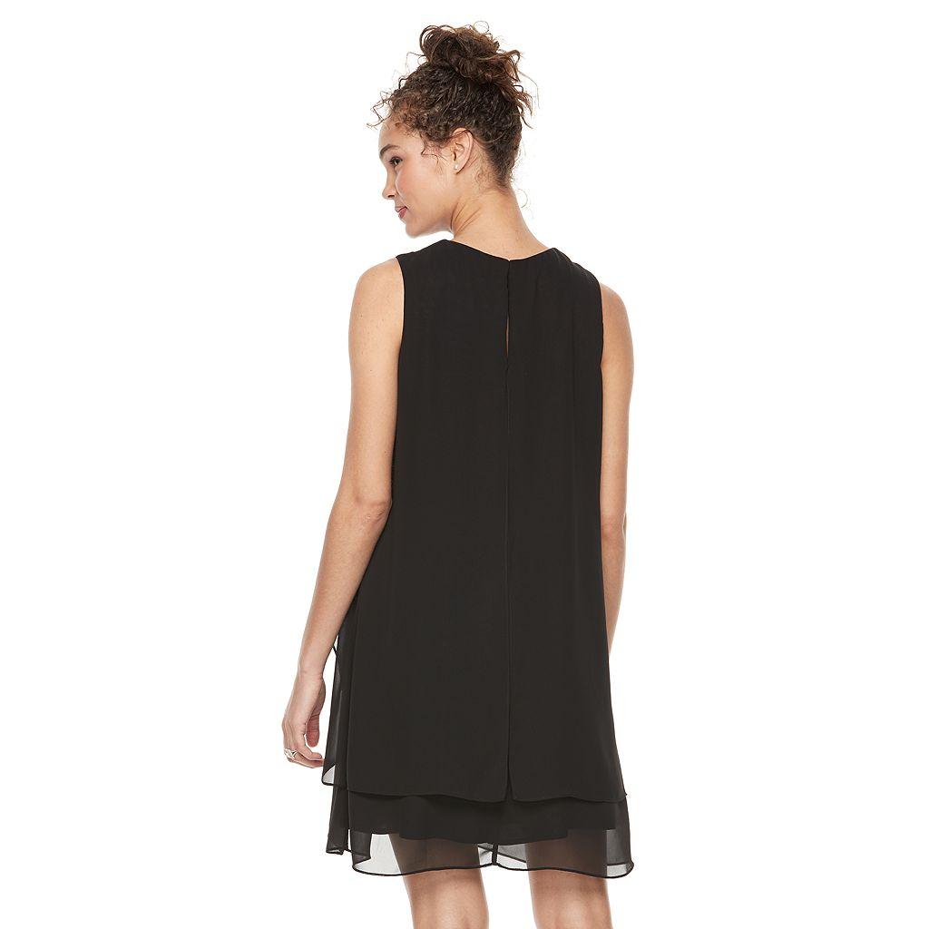 Women's Expo Draped Cutout Shift Dress