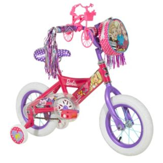 Girls Barbie 12-Inch Training Wheel Bike by Dynacraft