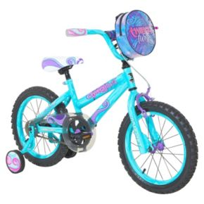 Girls Dynacraft 16-Inch Twilight Twist Training Wheel Bike
