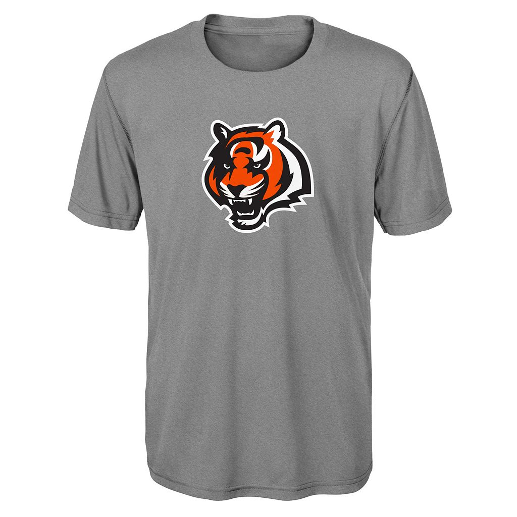 Boys 8-20 Cincinnati Bengals Primary Logo Performance Tee