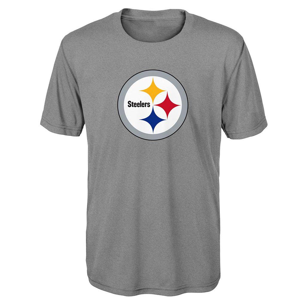 Boys 8-20 Pittsburgh Steelers Primary Logo Performance Tee