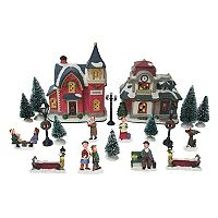 St. Nicholas Square® Village 20-Piece School/Train Station Starter Set