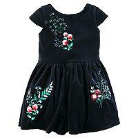 Toddler Girl Carter's Velvet Floral Dress