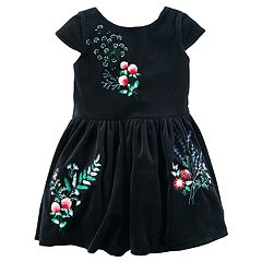 Toddler Girl Carter's Velvet Floral Dress