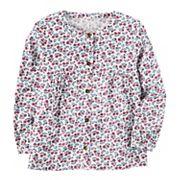 Toddler Girl Carter's Floral Woven Top