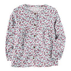 Toddler Girl Carter's Floral Woven Top