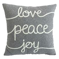 St. Nicholas Square® ''Love, Peace, Joy'' Throw Pillow