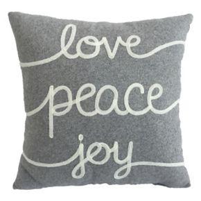 St. Nicholas Square® ''Love, Peace, Joy'' Throw Pillow