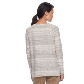 Petite SONOMA Goods for Life™ Cable-Knit Crewneck Sweater