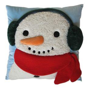 St. Nicholas Square® Snowman Sherpa Throw Pillow