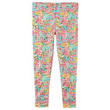 Girls 4-8 Carter's Floral Leggings