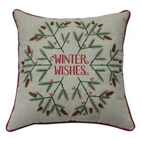 St. Nicholas Square® ''Winter Wishes'' Throw Pillow