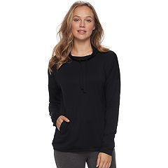Women's SONOMA Goods for Life™ Pajamas: Cowlneck Banded-Bottom Sweatshirt