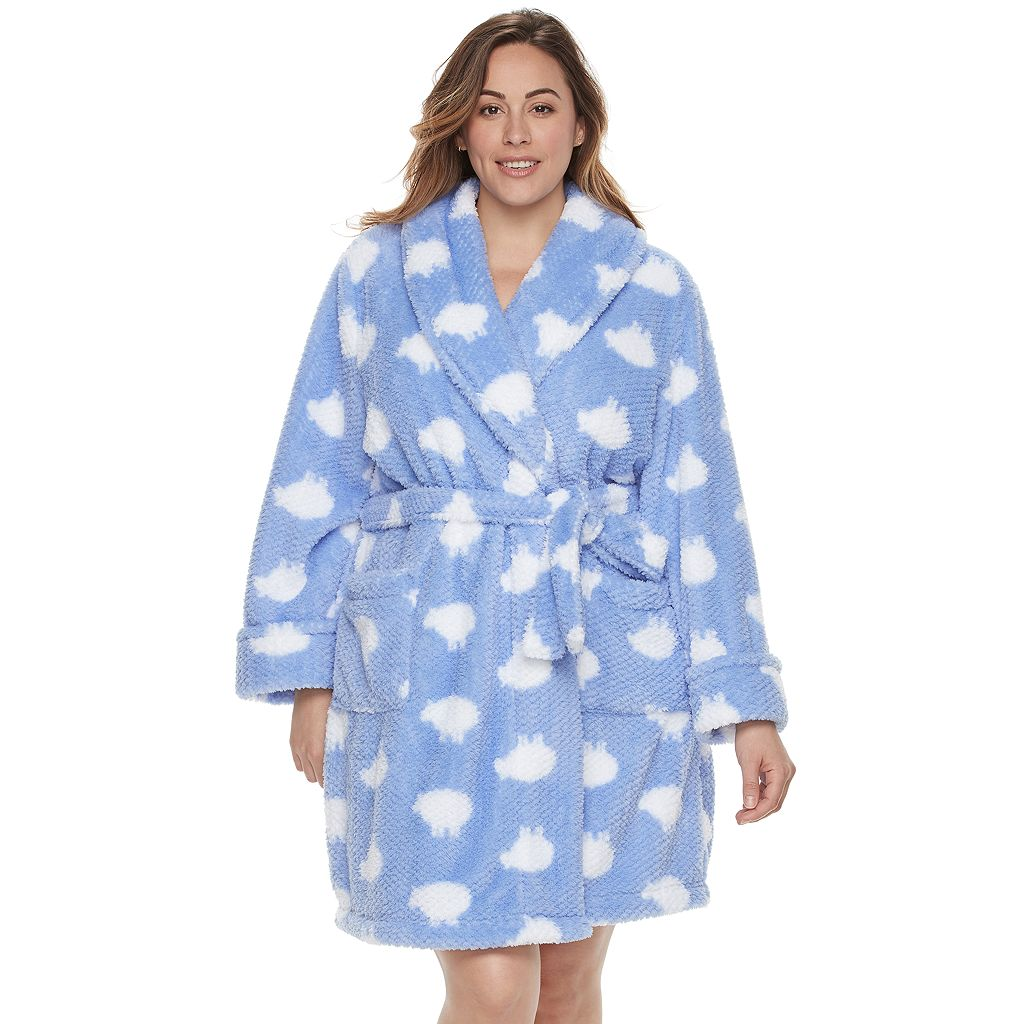 Plus Size SONOMA Goods for Life™ Textured Plush Short Robe