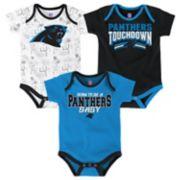 Baby Carolina Panthers Playmaker 3-Pack Bodysuit Set