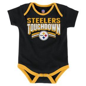 Baby Pittsburgh Steelers Playmaker 3-Pack Bodysuit Set