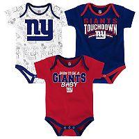 Baby New York Giants Playmaker 3-Pack Bodysuit Set