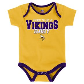 Baby Minnesota Vikings Playmaker 3-Pack Bodysuit Set
