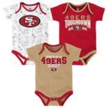 Baby San Francisco 49ers Playmaker 3-Pack Bodysuit Set