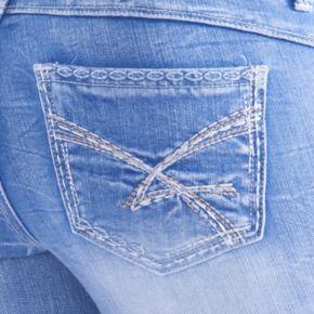 Juniors' Amethyst Frayed Hem Ankle Skinny Jeans