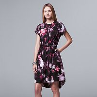 Women's Simply Vera Vera Wang Print High-Low Shirtdress