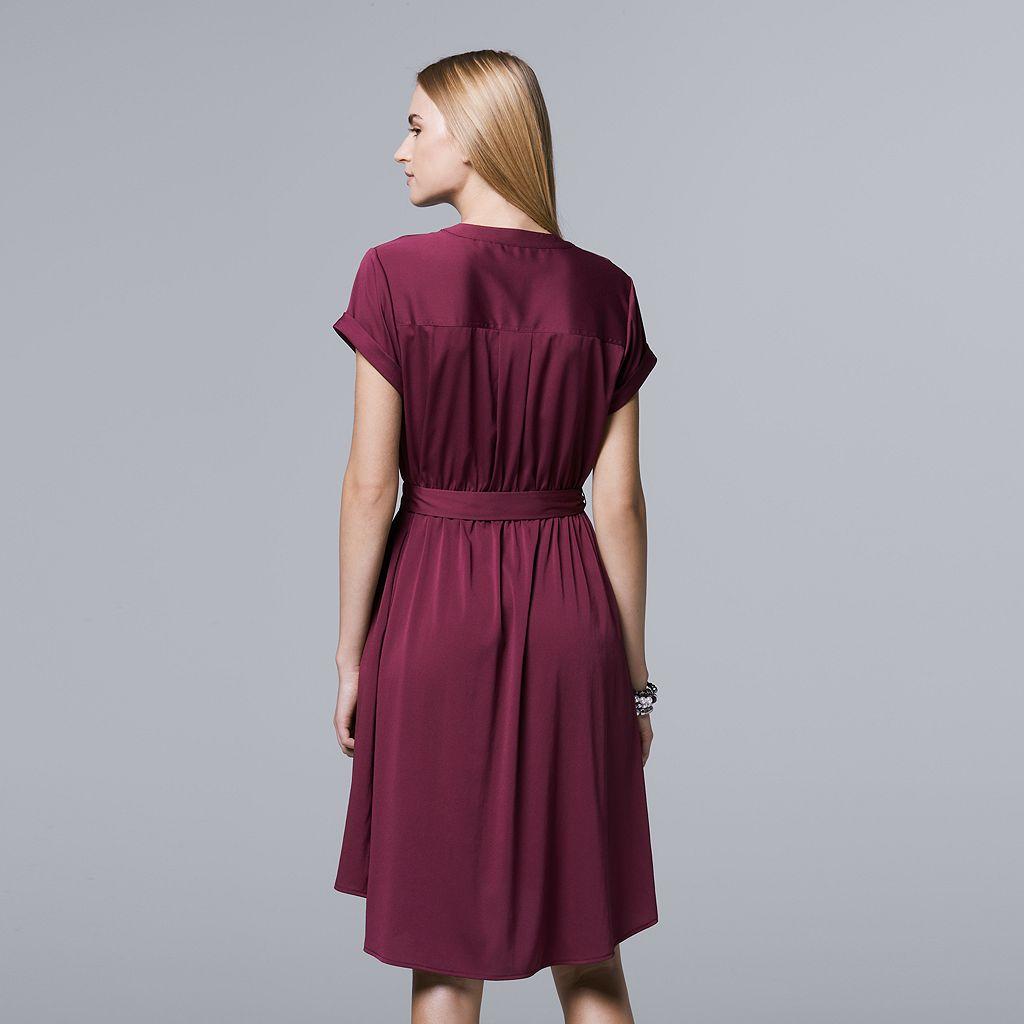 Women's Simply Vera Vera Wang High-Low Shirtdress