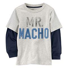 Boys 4-7 Carter's 'Mr. Macho' Mock-Layered Tee