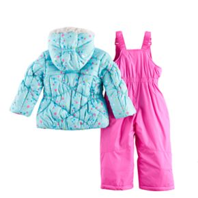 Toddler Girl ZeroXposur Mirage Heavyweight Bib Snowsuit & Jacket Set