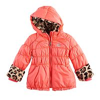Toddler Girl ZeroXposur Natalia Heavyweight Leopard Trim Jacket