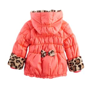 Toddler Girl ZeroXposur Natalia Heavyweight Leopard Trim Jacket
