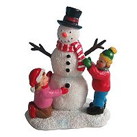 St. Nicholas Square® Village Children Making Snowman