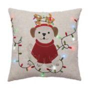 St. Nicholas Square® Dog Lights LED Throw Pillow