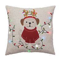 St. Nicholas Square® Dog Lights Throw Pillow