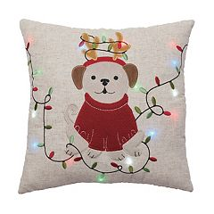 St. Nicholas Square® Dog Lights LED Throw Pillow
