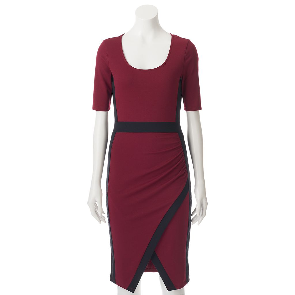 Juniors' Almost Famous Colorblock Sheath Dress
