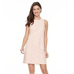 Women's Hope & Harlow Sleeveless Flower Eyelet Shift Dress