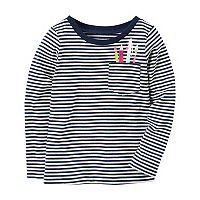 Girls 4-8 Carter's Striped Pocket Tee