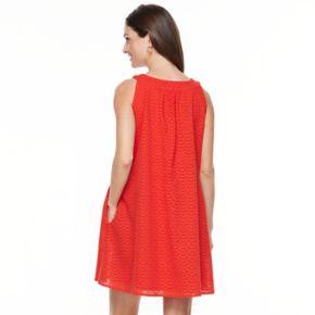 Women's Hope & Harlow Sleeveless Halter Strap Eyelet Dress