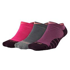 Women's Nike 3 pkDri-Fit Cushioned No-Show Socks